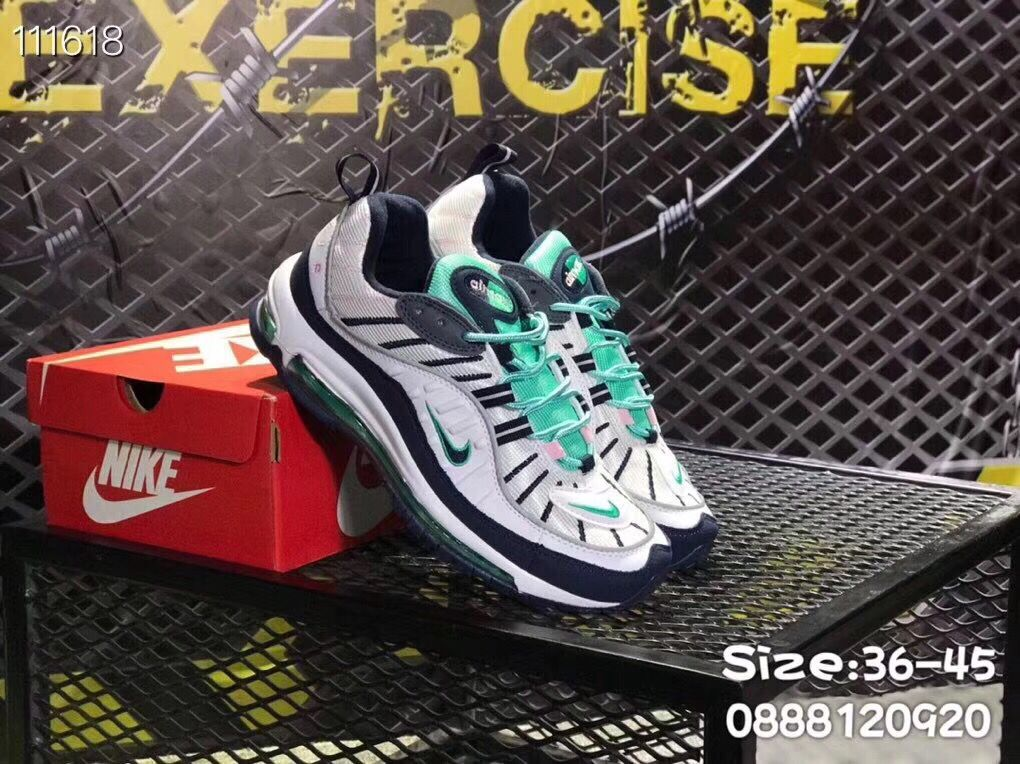 Nike Air Max 98 White Black Jade Shoes